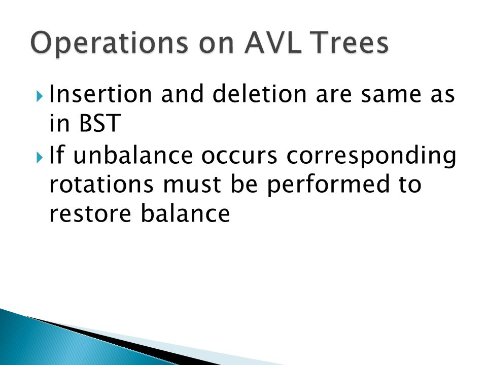 Operations on AVL Trees