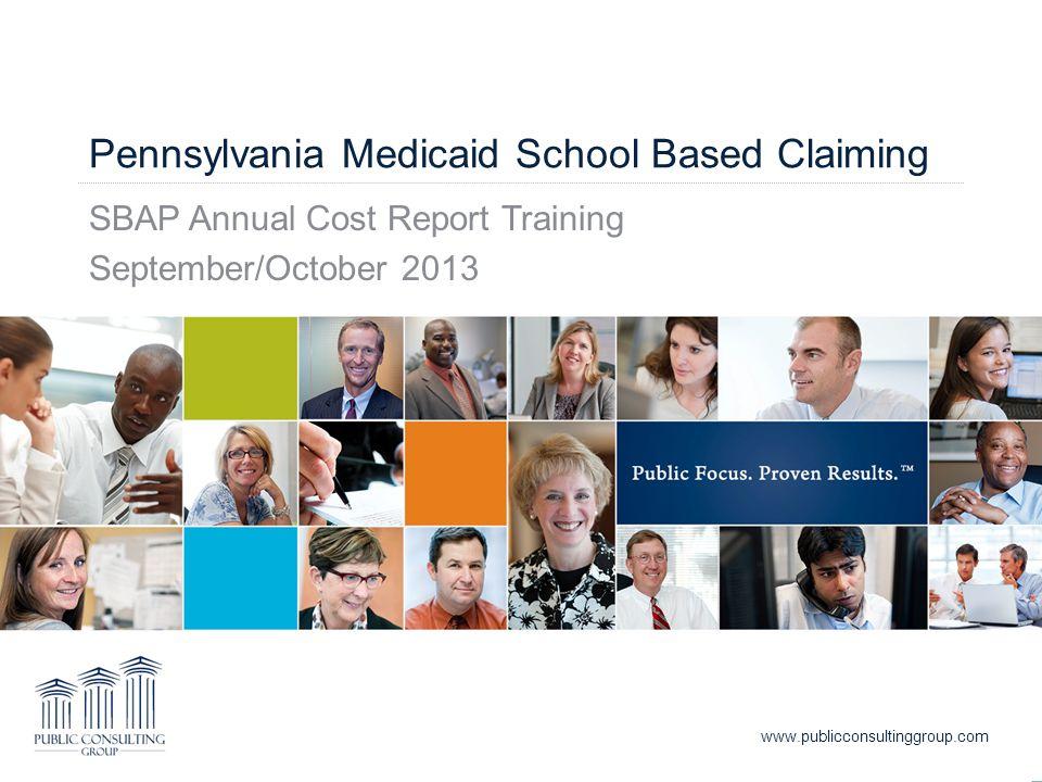 Pennsylvania Medicaid School Based Claiming