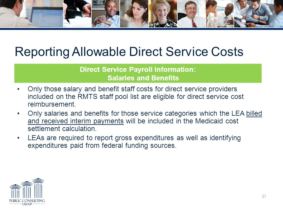 Reporting Allowable Direct Service Costs