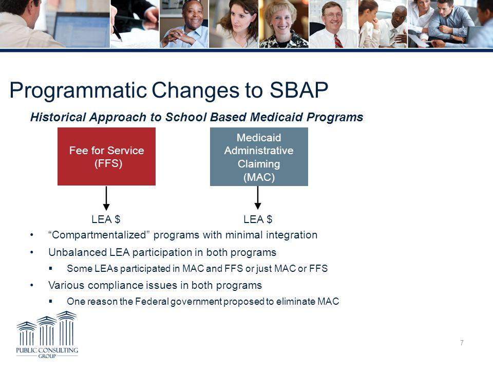 Programmatic Changes to SBAP