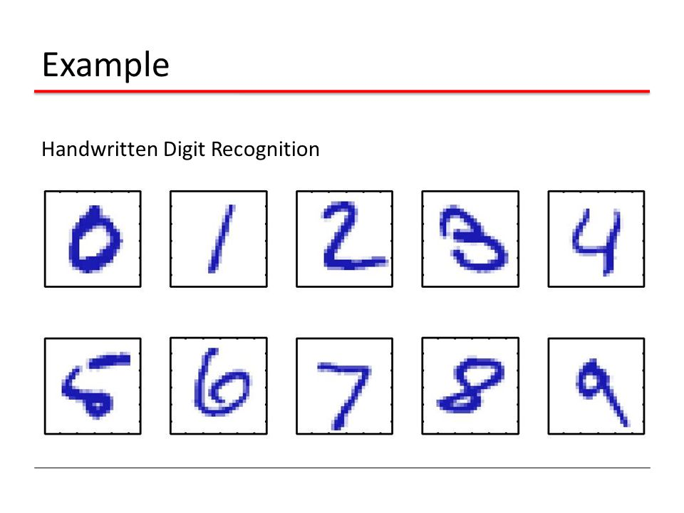 Example Handwritten Digit Recognition