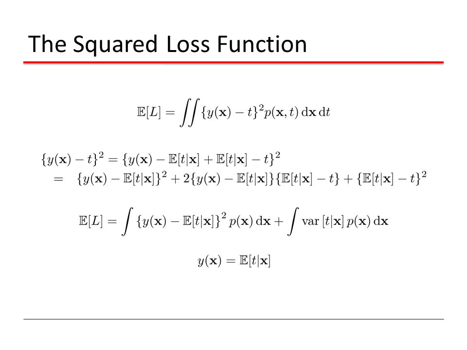 The Squared Loss Function