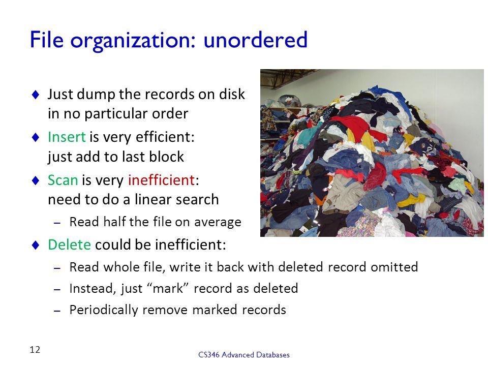 File organization: unordered
