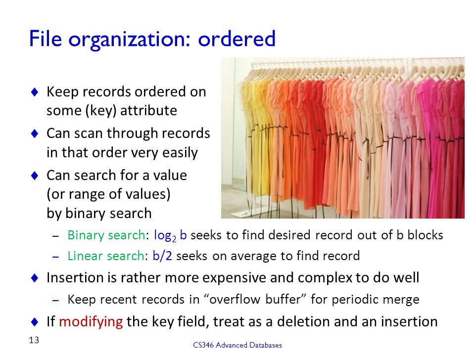 File organization: ordered