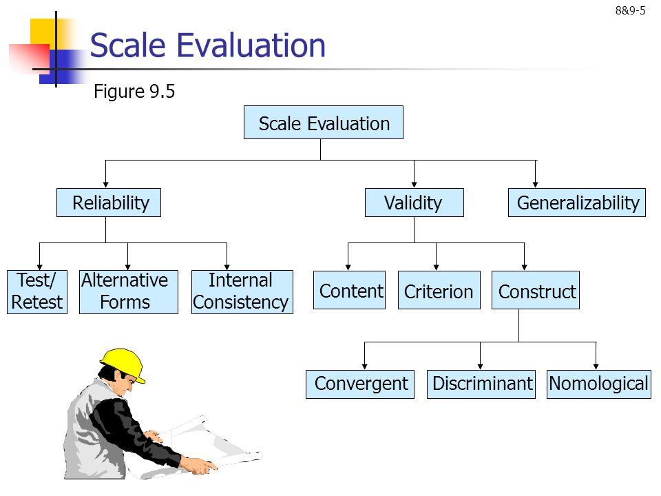 Scale Evaluation Figure 9.5 Scale Evaluation Generalizability