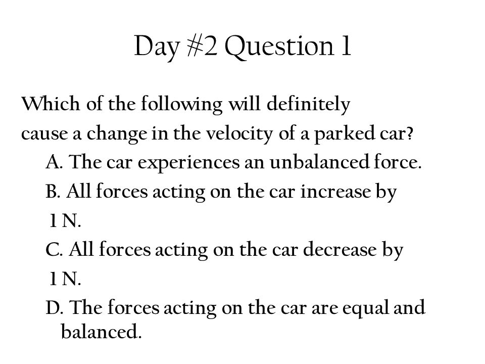 Day #2 Question 1