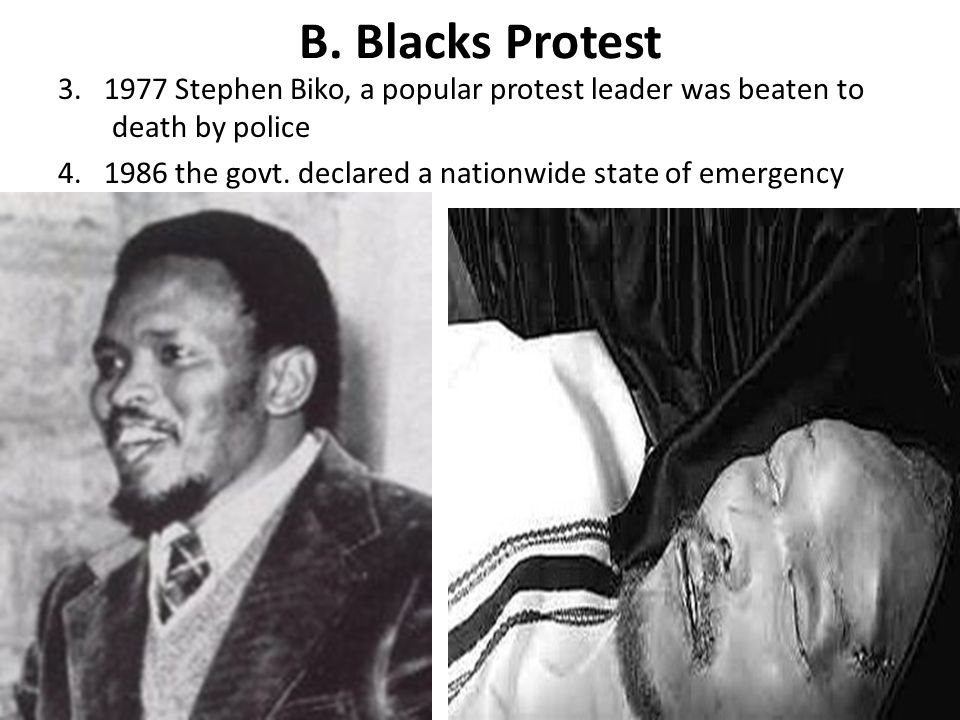 B. Blacks Protest