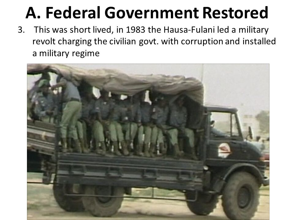A. Federal Government Restored