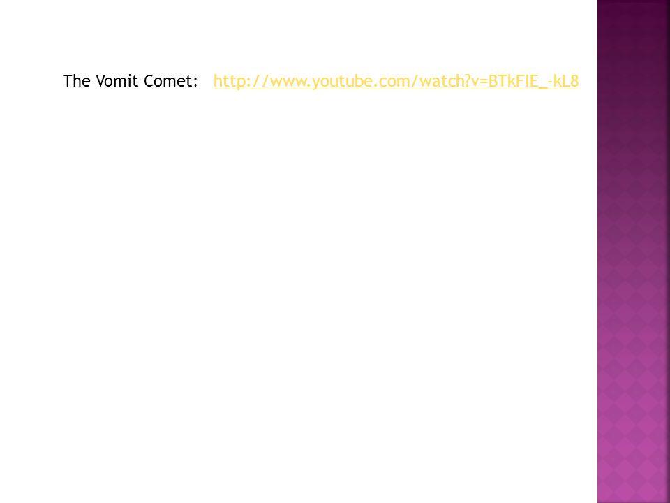 The Vomit Comet: http://www.youtube.com/watch v=BTkFIE_-kL8