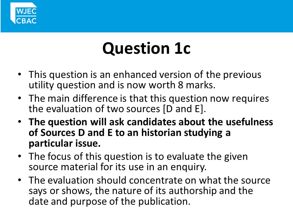 Question 1c This question is an enhanced version of the previous utility question and is now worth 8 marks.