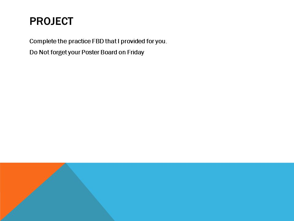 Project Complete the practice FBD that I provided for you.