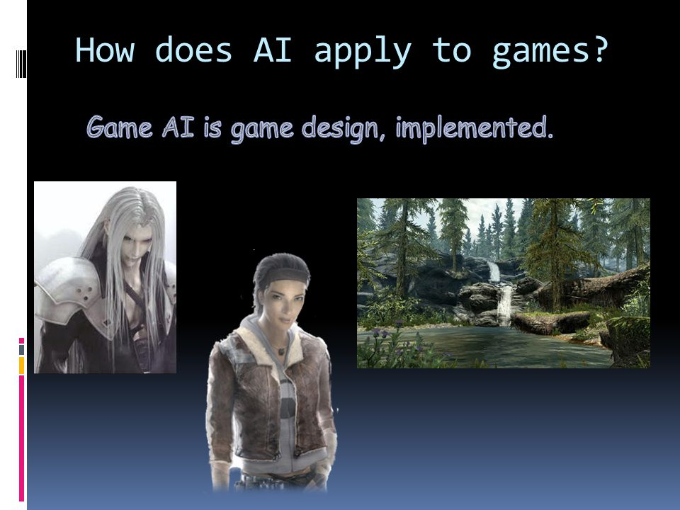 How does AI apply to games