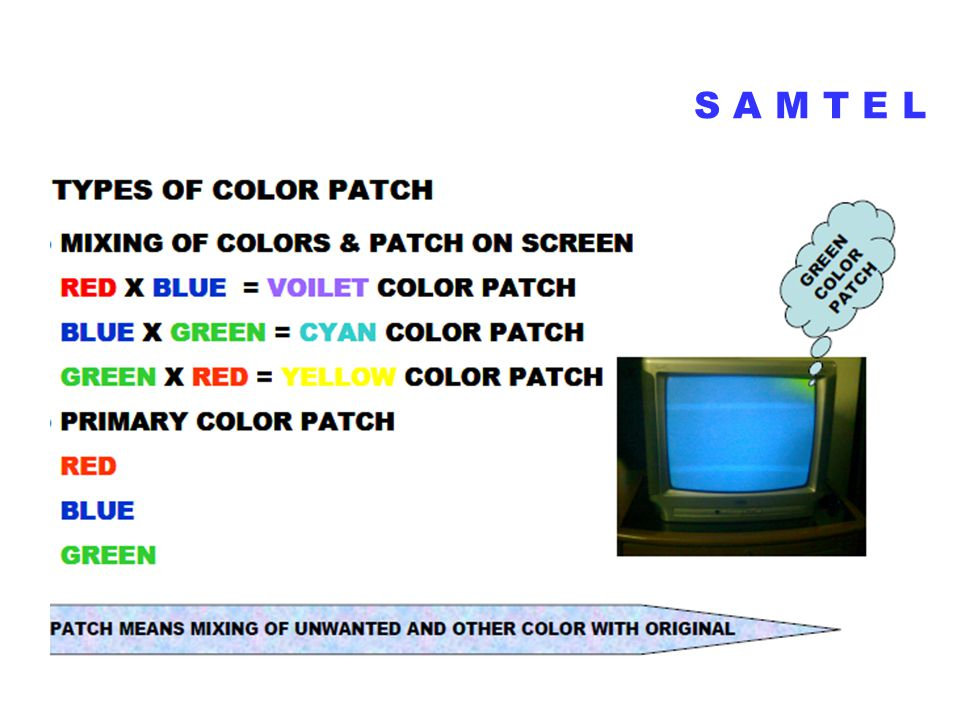 COLOR PATCH ON CRT SCREEN