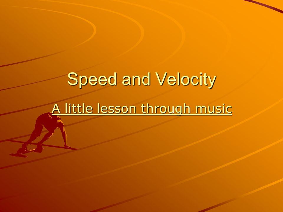 A little lesson through music