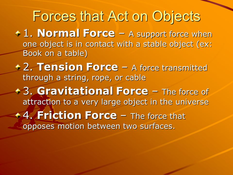 Forces that Act on Objects