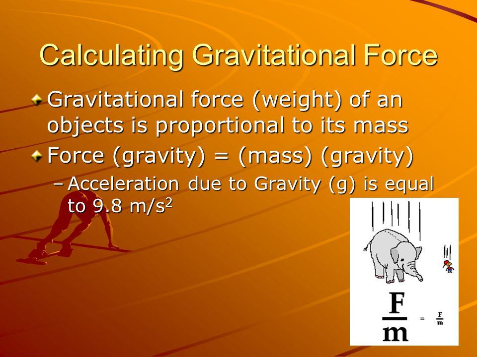 Calculating Gravitational Force