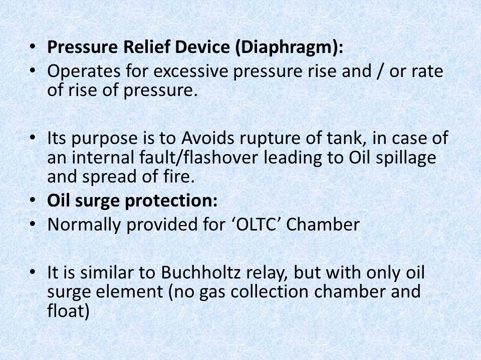 Pressure Relief Device (Diaphragm):