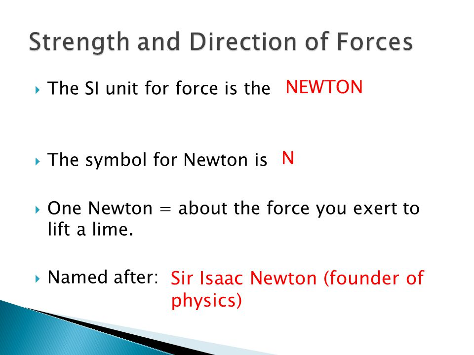 Strength and Direction of Forces