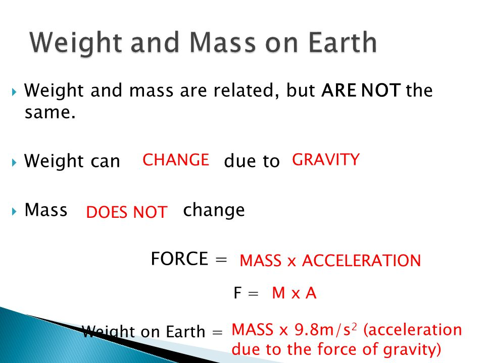Weight and Mass on Earth