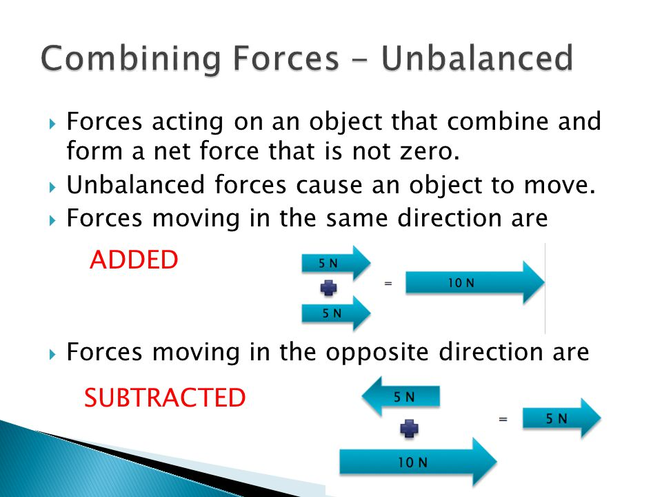Combining Forces - Unbalanced