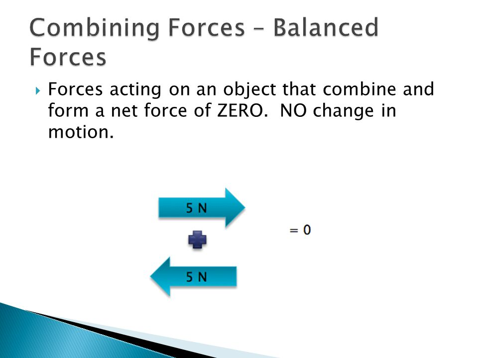 Combining Forces – Balanced Forces
