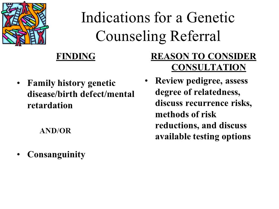 Indications for a Genetic Counseling Referral