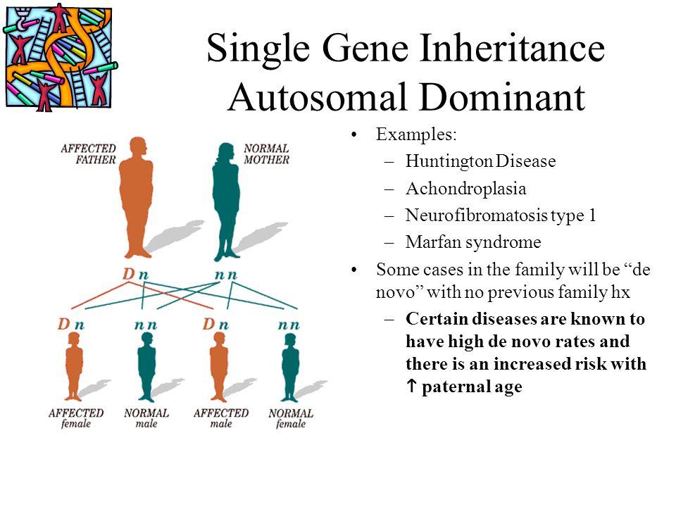 Single Gene Inheritance Autosomal Dominant