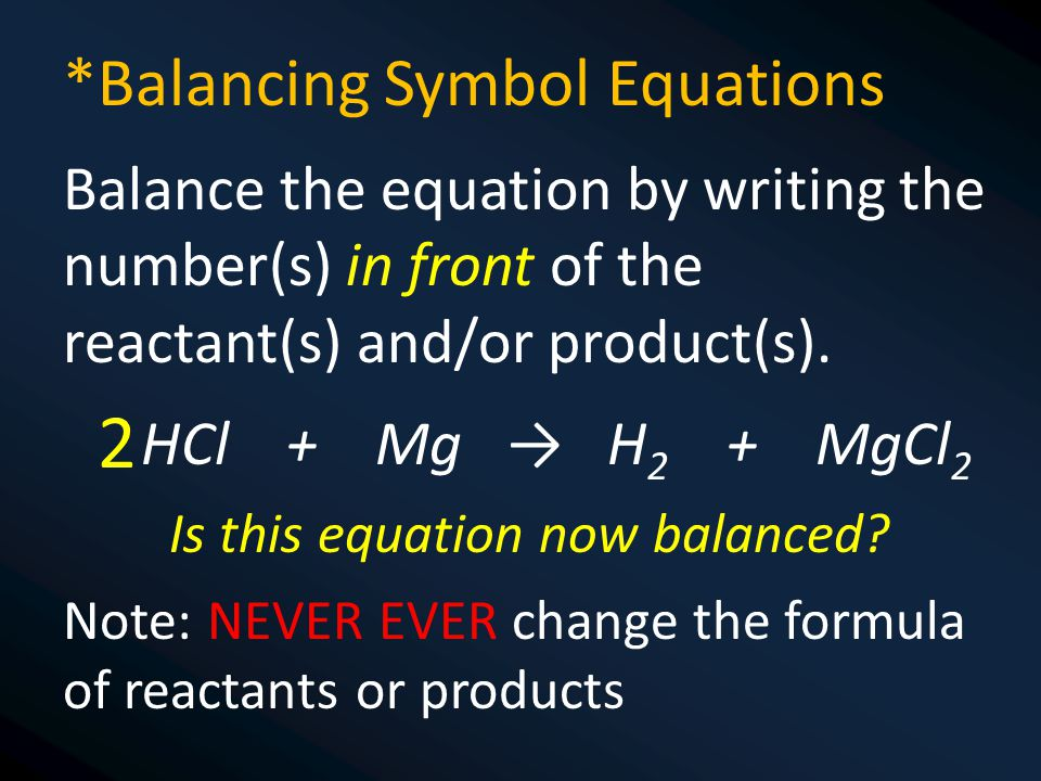 Is this equation now balanced