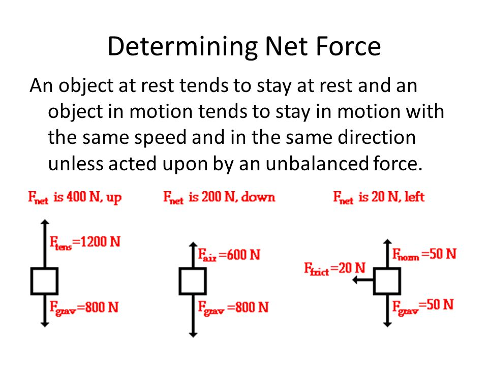 Determining Net Force