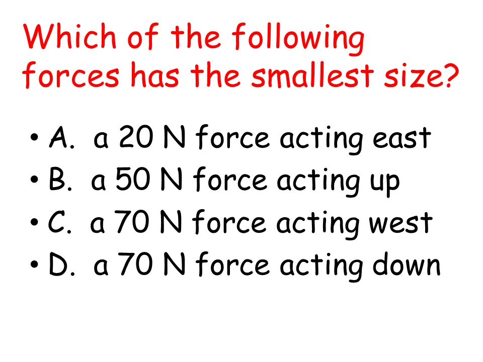 Which of the following forces has the smallest size