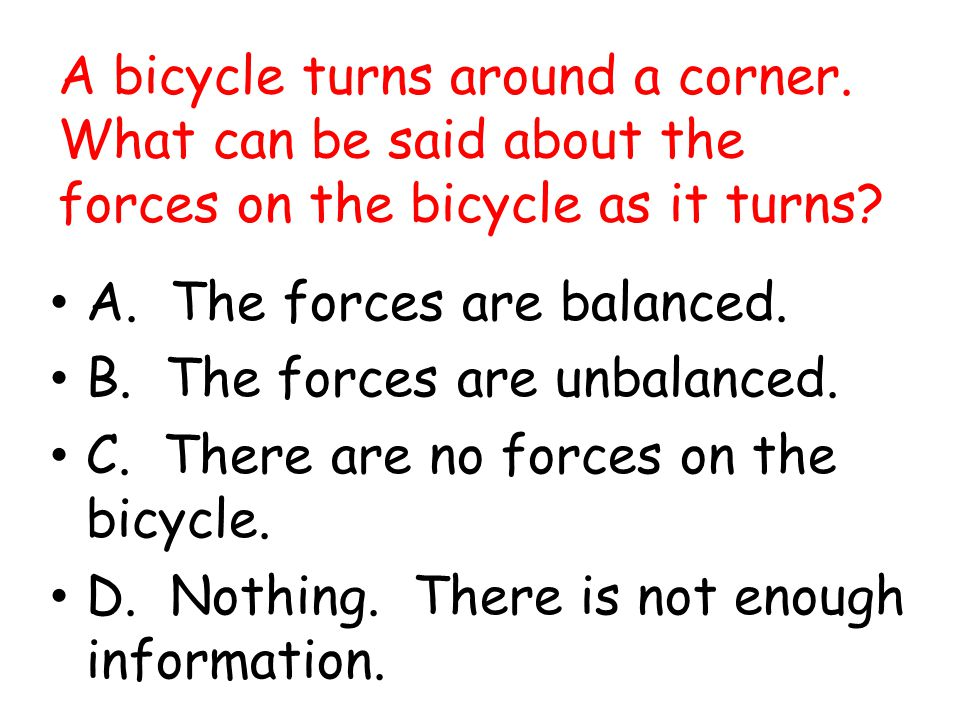 A bicycle turns around a corner