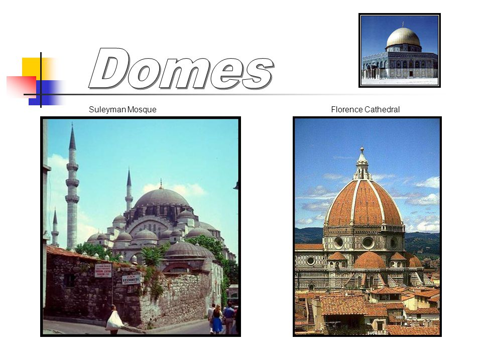 Domes Suleyman Mosque Florence Cathedral