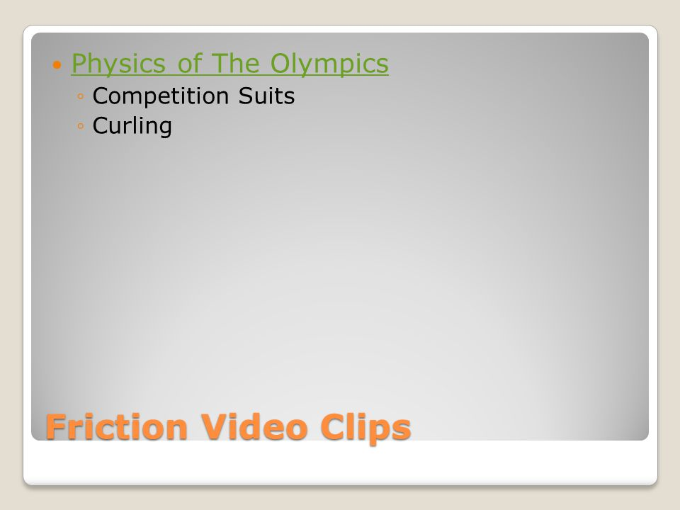 Physics of The Olympics