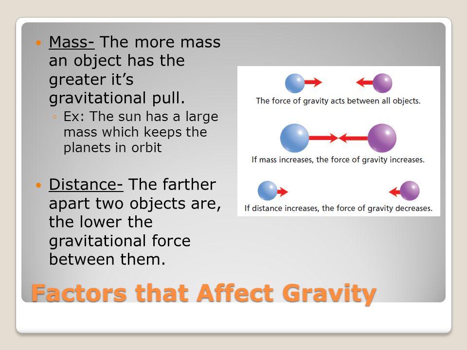 Factors that Affect Gravity