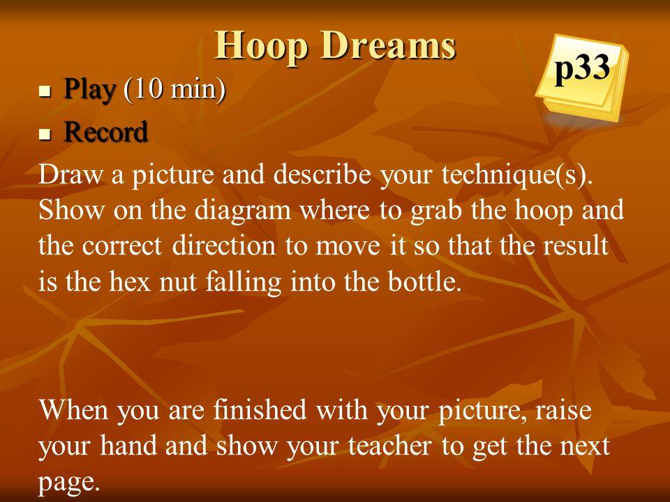 Hoop Dreams p33 Play (10 min) Record