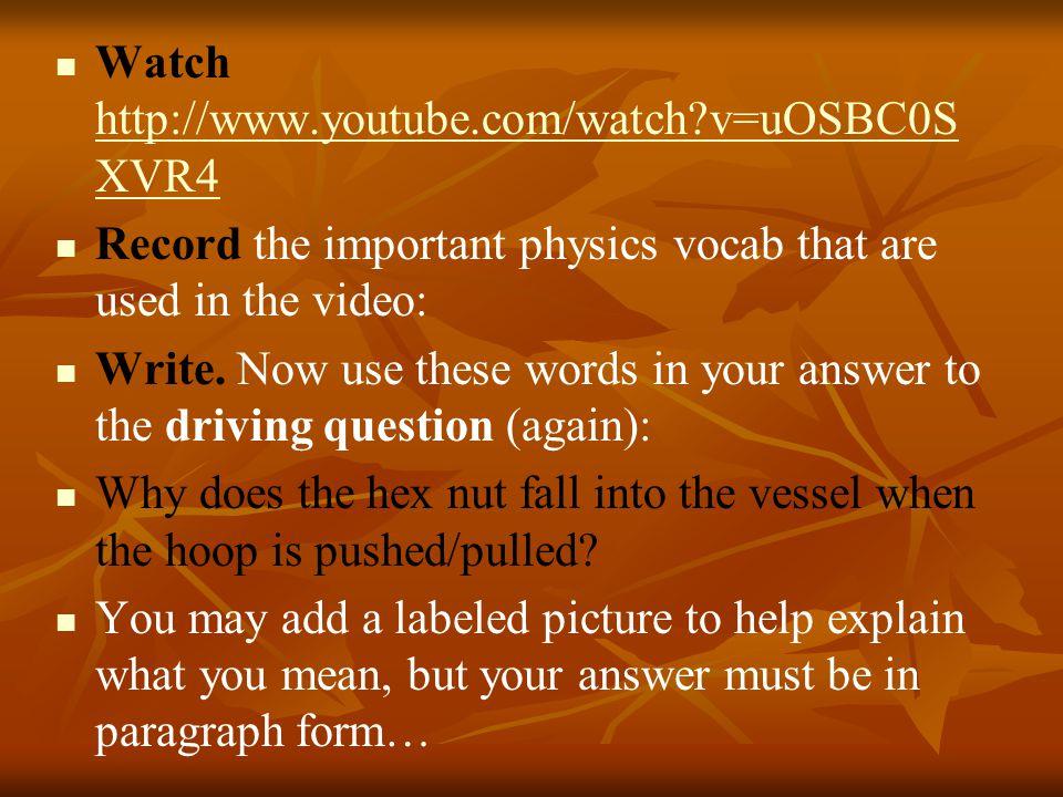 Watch http://www.youtube.com/watch v=uOSBC0SXVR4