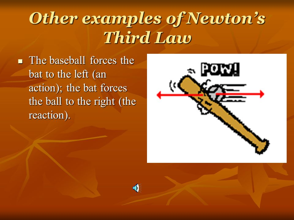 Other examples of Newton's Third Law