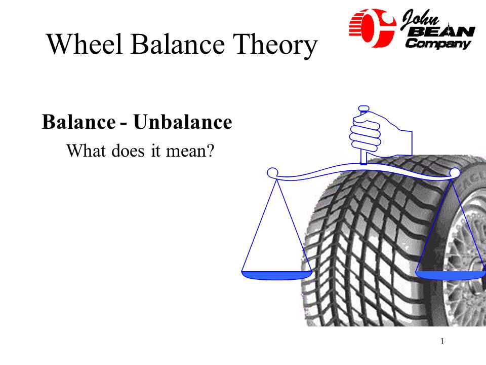Wheel Balance Theory Balance - Unbalance What does it mean