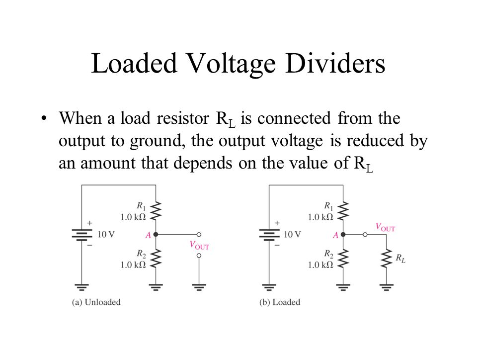 Loaded Voltage Dividers