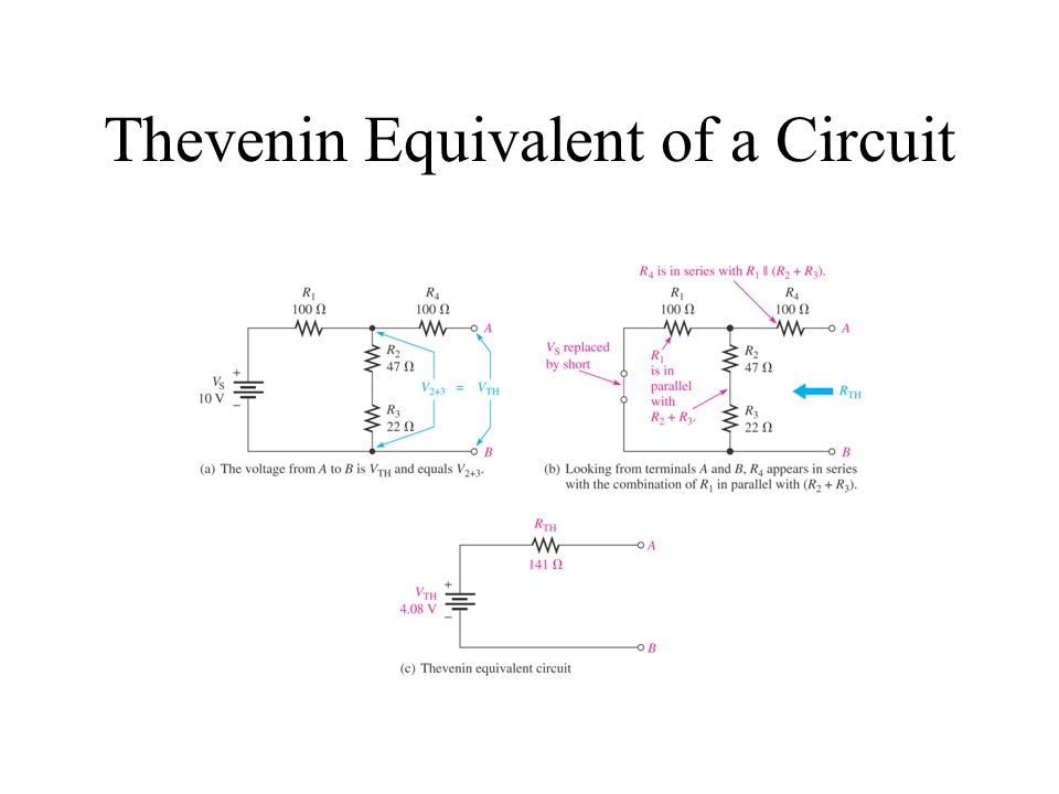 Thevenin Equivalent of a Circuit