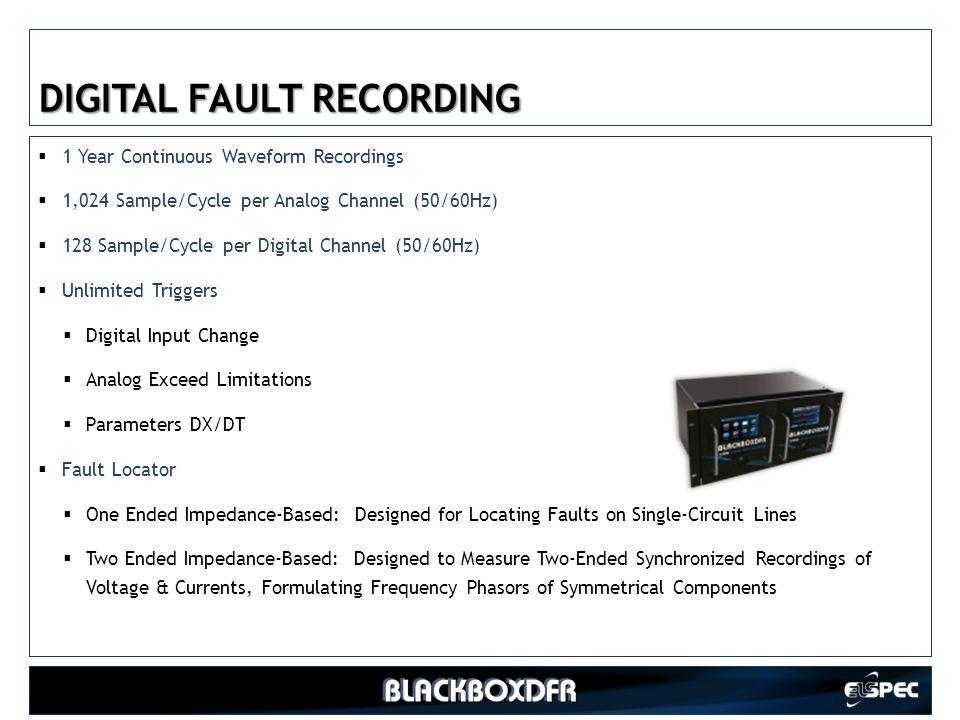 DIGITAL FAULT RECORDING
