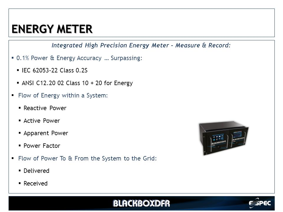 Integrated High Precision Energy Meter – Measure & Record: