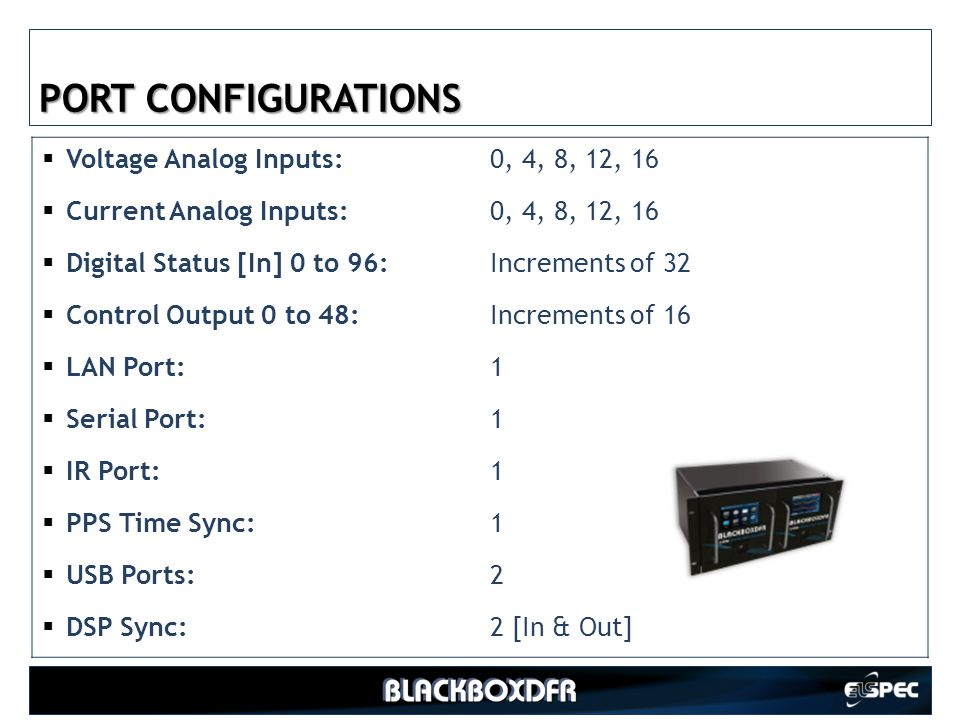 PORT CONFIGURATIONS Voltage Analog Inputs: 0, 4, 8, 12, 16
