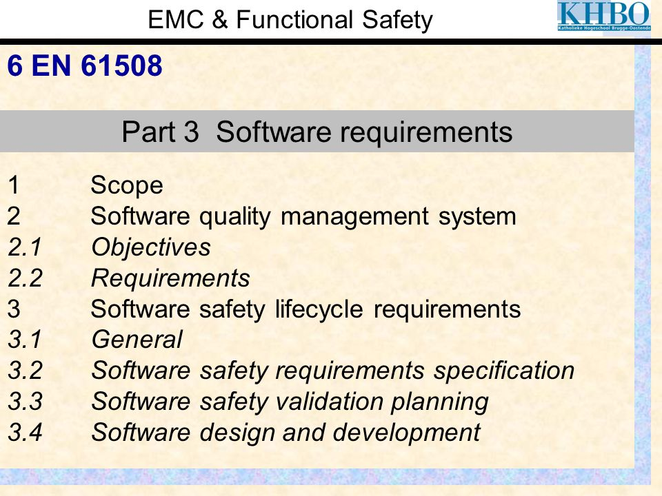 Part 3 Software requirements