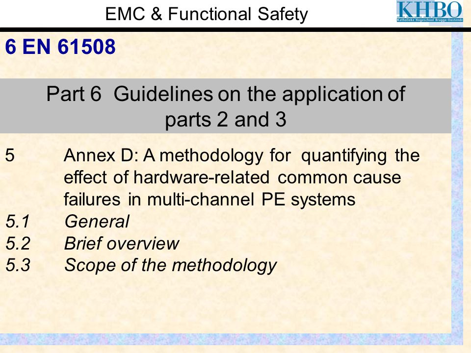 Part 6 Guidelines on the application of parts 2 and 3