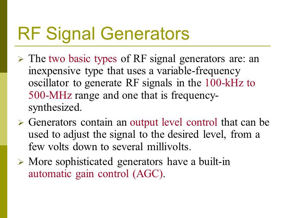 RF Signal Generators