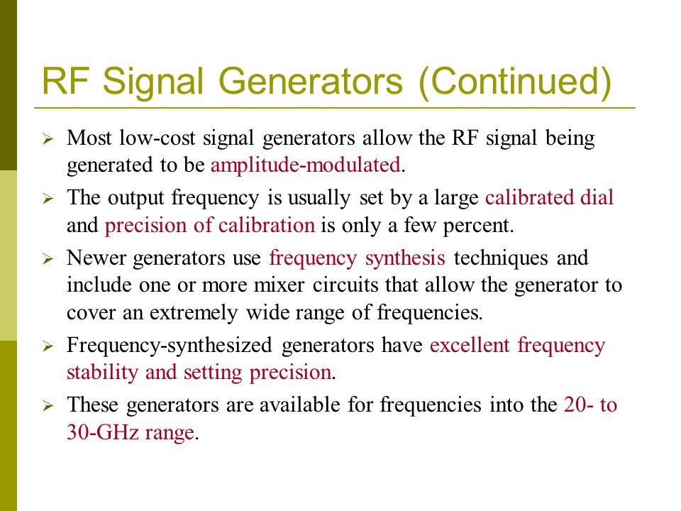 RF Signal Generators (Continued)