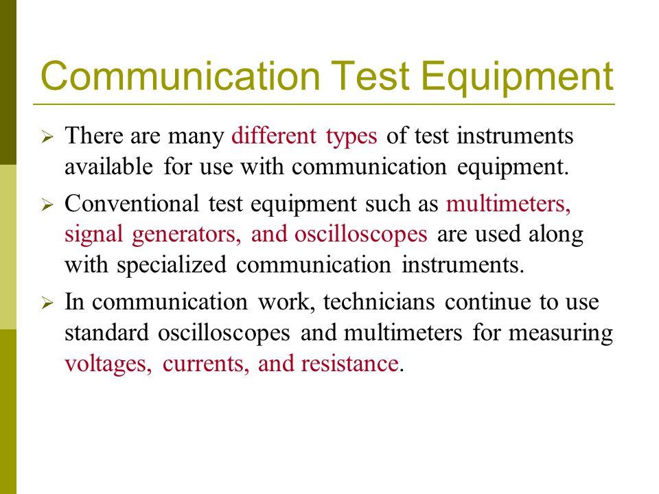 Communication Test Equipment
