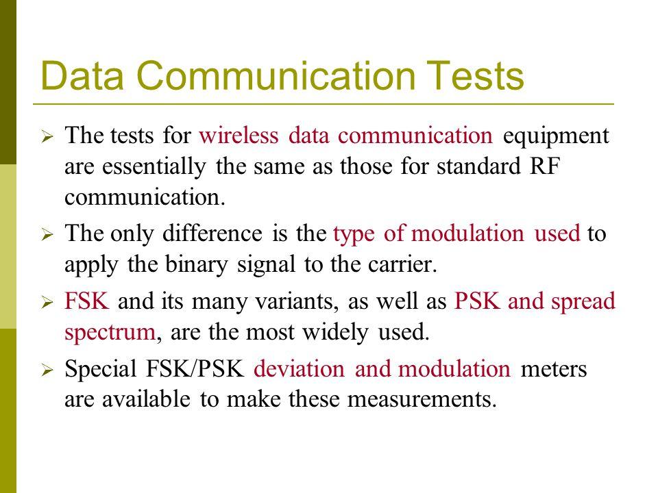 Data Communication Tests