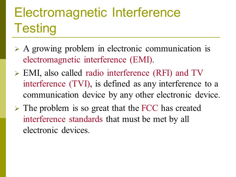 Electromagnetic Interference Testing